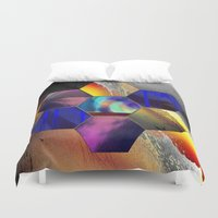 hexagon Duvet Covers featuring hexagon II by donphil