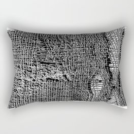 Old Fabric Fibers-Distressed-Torn Cloth-Ripped Rectangular Pillow