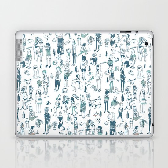 Crowd Pattern Laptop & iPad Skin