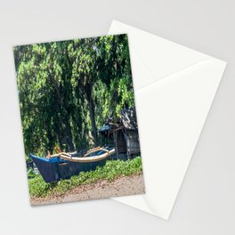 Blue Filipino Kayak Stationery Cards