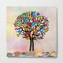 Butterfly tree  Metal Print