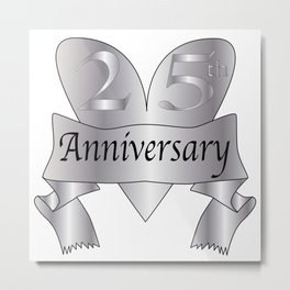 25th Anniversary Heart Metal Print