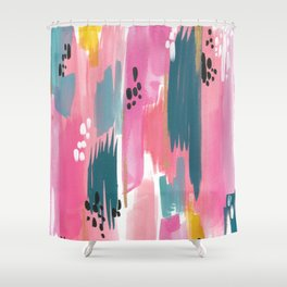 Seaside Abstract Shower Curtain