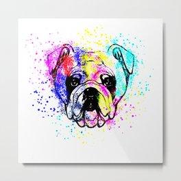 Bulldog,dog design, decor,apparel Metal Print