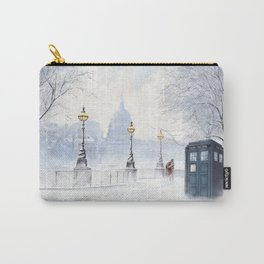 Tardis Snow Romantic Carry-All Pouch
