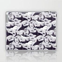 Sharks On Pale Grey Laptop & iPad Skin