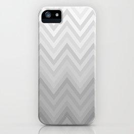 Chevron Fade Grey iPhone Case