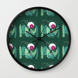 Night Rider Pattern Wall Clock