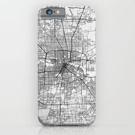 Houston City Map of Texas, USA - Light iPhone Case