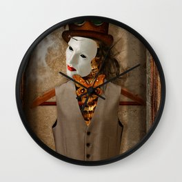 Skeleton In The Closet Wall Clock