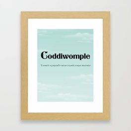 "Coddiwomple ""To travel in a purposeful manner towards a vague destination"" Framed Art Print"