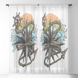Nautical Splash Sheer Curtain