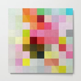 Abstract painting to squares IV Metal Print