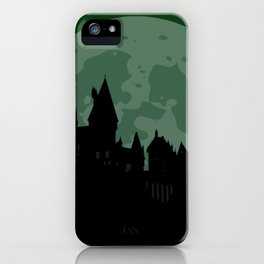 Castle - Green, Large Moon iPhone Case