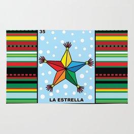 Christmas Loteria La Estrella Rug