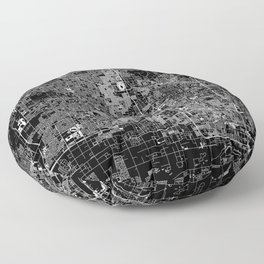 Phoenix Black Map Floor Pillow