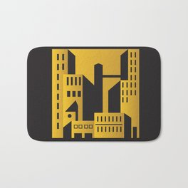 Golden city art deco Bath Mat