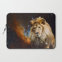 Lion and Galaxy Laptop Sleeve