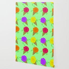 Roses are Rainbow Sorbet Wallpaper