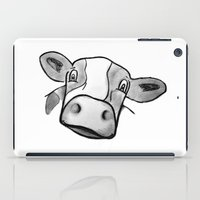 cow iPad Cases featuring Cow by mandylauren