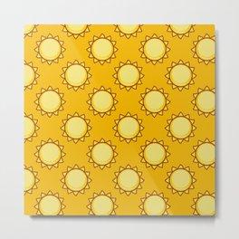 Sunshine Pattern Metal Print