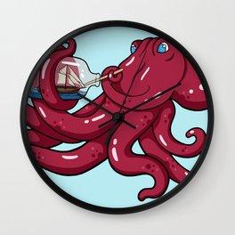 The Kraken's Day Off Wall Clock