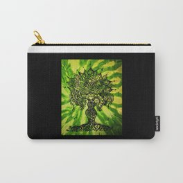 Green Tie-Dyed Goddess print Carry-All Pouch