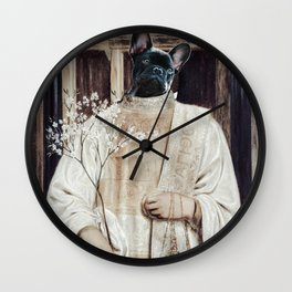 Religious dog royal jesus church puppy Wall Clock