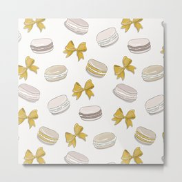 Macaron yellow Metal Print