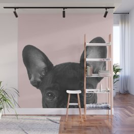 Blush pink Frenchie pop Wall Mural