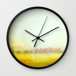 Abstract Yellow Landscape, Modern Southewest Wall Clock