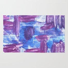 Royal purple abstract watercolor Rug