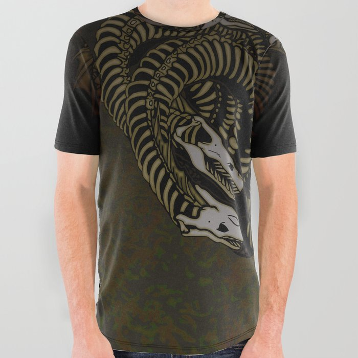 Lonely Hydra All Over Graphic Tee
