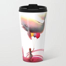 Whale and Balloons Travel Mug
