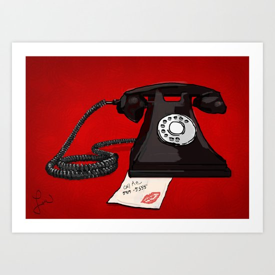 Late Call  Art Print
