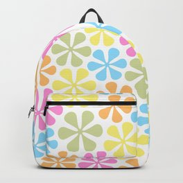 Abstract Flowers Bright Color Mix Backpack