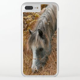 Wild Horses of The Long Mynd Clear iPhone Case