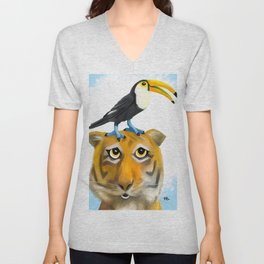 Tiger and Toucan Unisex V-Neck