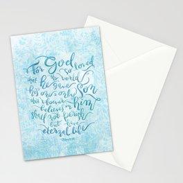 For God So Loved the World - John 3:16 Stationery Cards