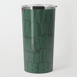 Boba Fett Typography Travel Mug
