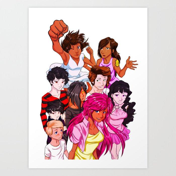 Guardians Group Art Print