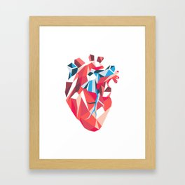 Poligon Heart Framed Art Print