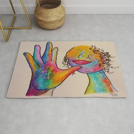 American Sign Language MOTHER Rug