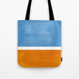 Rothko Minimalist Abstract Mid Century Color Black Square Periwinkle Yellow Ochre Tote Bag