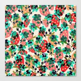 Floral Berries. Canvas Print