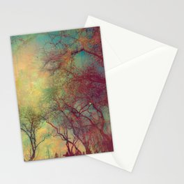 Tree Silhouette, Autumn Sunset Stationery Cards