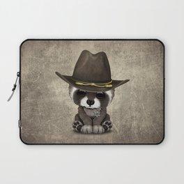 Cute Baby Raccoon Sheriff Laptop Sleeve
