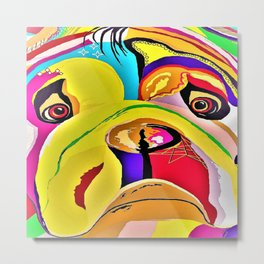 Bulldog Close-up Metal Print