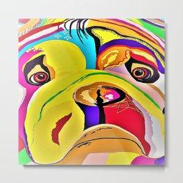 Bulldog Close-up Metal Print