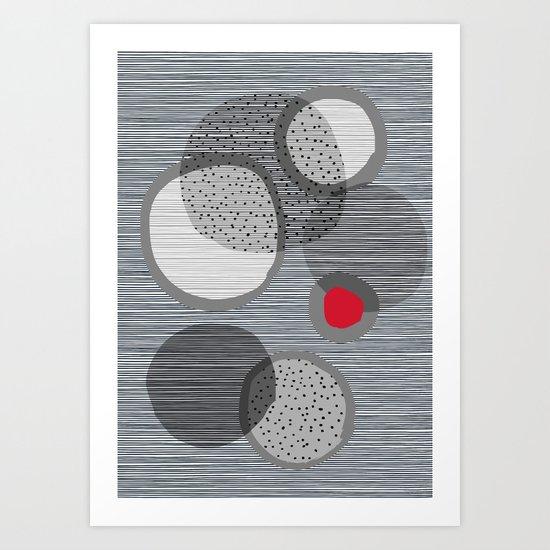 the red dot Art Print